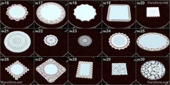 napkin set sims 3