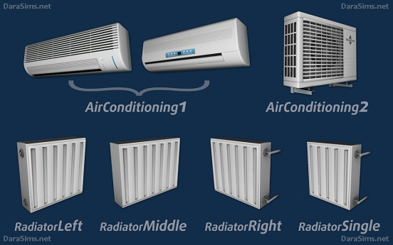 radiators and air conditioning sims 3 by darasims