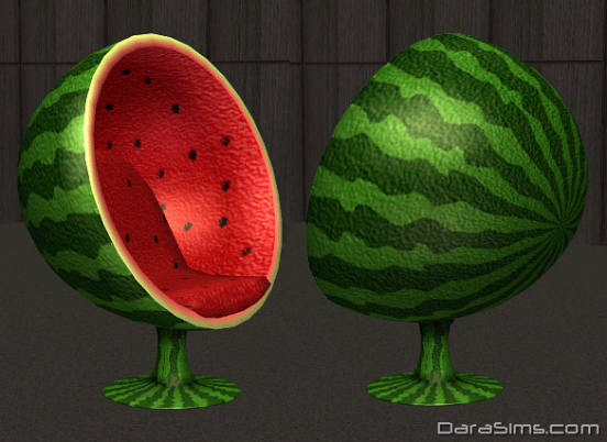 retro armchair watermelon sims 2
