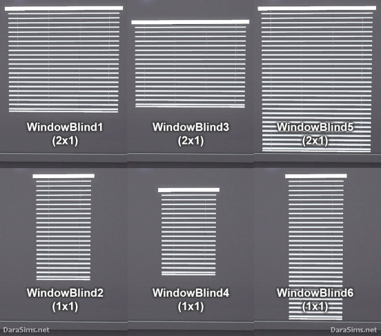 window blinds sims 3