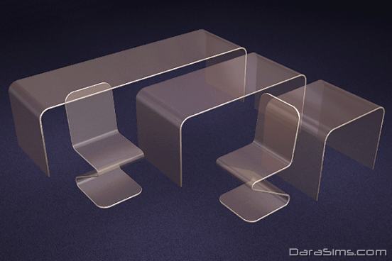 glass dining set sims 2
