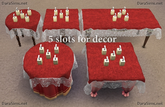 lace tablecloth set sims 4