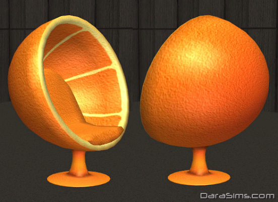 retro armchair orange sims 2