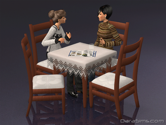 dining set with cloth sims 2