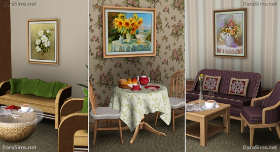 paintings set sims 3