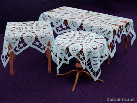 lace tablecloth set sims 3