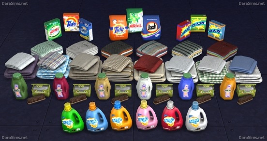 laundry decor set sims 4