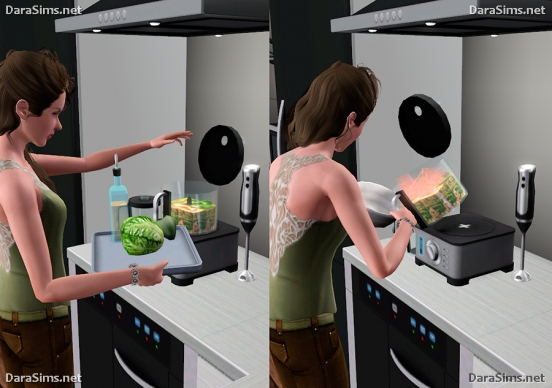 kitchen set sims 3