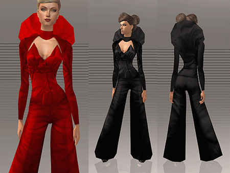 costume with collar sims 2