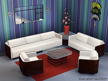 modern living set sims 3
