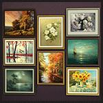 Набор живописных картин