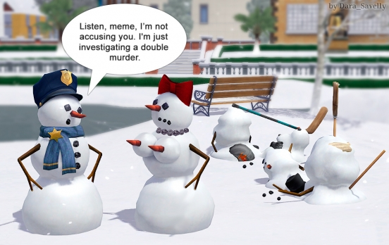 snowman double murder sims 3