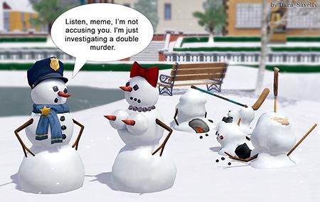 snowman double murder sims 3 comics