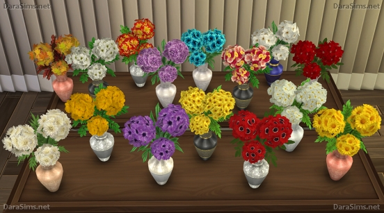 mixed flowers recolors